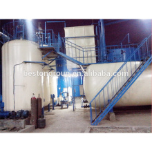 Machine de réutilisation d'huile de pneu de rebut de prix concurrentiel équipement noir de distillation d'huile