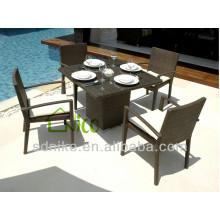 Outdoor-Rattan Möbel quadratischen Speisesaal