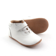 Vit Ankel Real Cow Läder Casual Shoes
