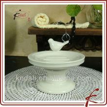 Hot sale ceramic soap holder with bird