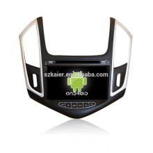 Quad core! Dvd do carro com link espelho / DVR / TPMS / OBD2 para 8 polegada tela sensível ao toque quad core 4.4 sistema Android CHEVROLET CRUZE 2013