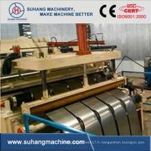 Machines de fente en acier galvanisées en acier de bobine de zinc en acier de vitesse moyenne