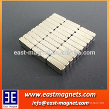 small bar ndfeb magnet/small cuboid neodymium magnet coat with nickle/strong magnet for packing and gift boxes