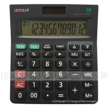 Calculateur de taxe à doubles sources de 12 chiffres avec fonction fiscale facultative (CA1227)