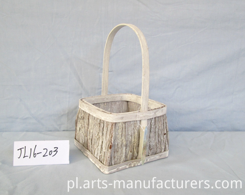 wood bark flower pot