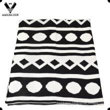 2016 New Winter Popular Cute Geometric Jacquard Knit Blanket