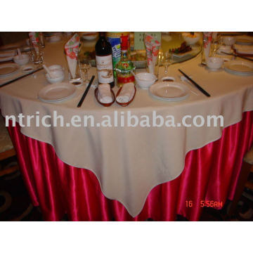 Satin Tablecloth and 100%polyester Table Overlay