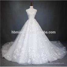 2018 Chine Guangzhou Robe de mariée de luxe robe de mariée de haute qualité couleur blanche Puffy robe de mariée Princesse