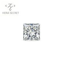 ForeverFlame  G H Princess 2ct Cut diamond CVD CZ Moissanite chic jewelry