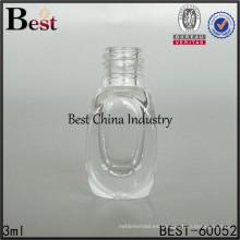 botella cuadrada única del esmalte de uñas del cuadrado 3ml