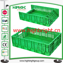 Foldable and Stackable Plastic Storage Crate
