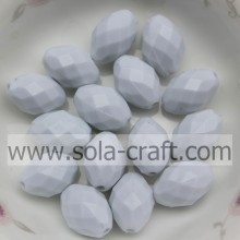 Faceted Diamond Ellipse Acrylic Solid Beads For Decoration