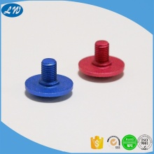 Anodized aluminum truss head screw cap