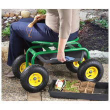 "Garden Caddy. ""Tractor Seat on Wheels"""