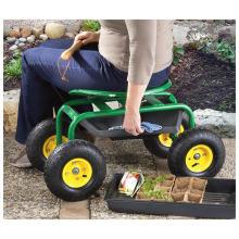 """Transportador de jardim. """"Assento de trator sobre rodas"""""""