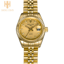 Luxuriöse Diamant-Quarz-Damen-Uhr-Sport-Geschäfts-Edelstahl-wasserdichte Uhr-Liebes-Geschenk-Art und Weise