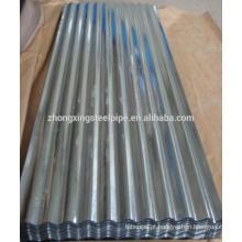 Recipiente de chapas de aço corrugado SGCC galvanizado