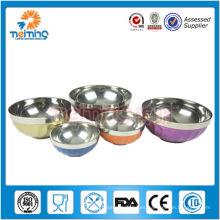 tazón de fuente aislado del alimento del acero inoxidable de la categoría alimenticia