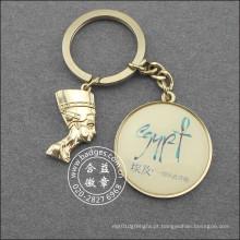 Keychain egípcio da imagem, anel chave feito sob encomenda do metal (GZHY-KC-021)