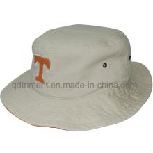 Moda lavado twill deporte pesca cubo sombrero (TRBH015)