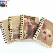 Custom Printing Kraft Paper Hardcover Spiral Notebooks