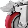 Full Plastic Brake for Medium Duty Plate Casters