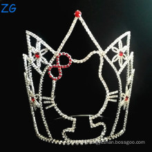 Cute Cat Design Rhinestone Pageant Crown Tiara Kids Tiara