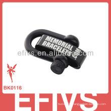 2013 matte black adjustable shackle with lasered logo