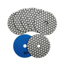7 step Dry  polishing pads for stone granite marble travertine porcelain dry super flexible polishing pad