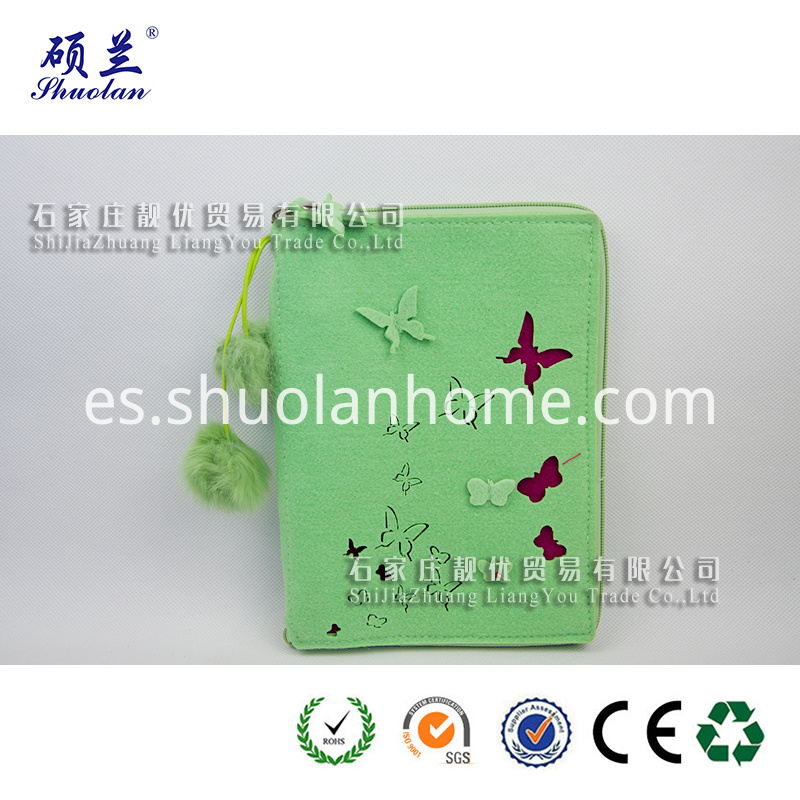 Wholesale Green Felt Notebook Cover