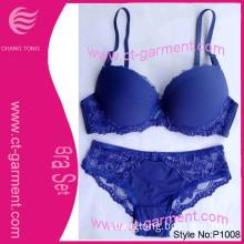Sexy Fashion 2013 New Design Bra Set/ Blue Lace Suit Female Underwear (P1008)