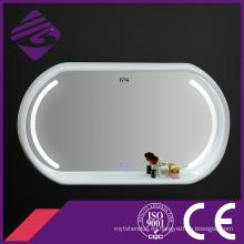 Jnh290 Touch Screen Wood Frame LED Espejo de baño con reloj