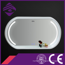 Jnh290 Touch Screen Wood Frame LED Bathroom Mirror with Clock