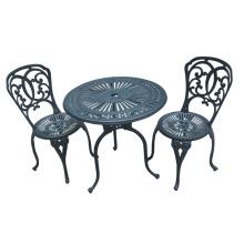 Muebles al aire libre jardín Patio Bistro Set Cast aluminio