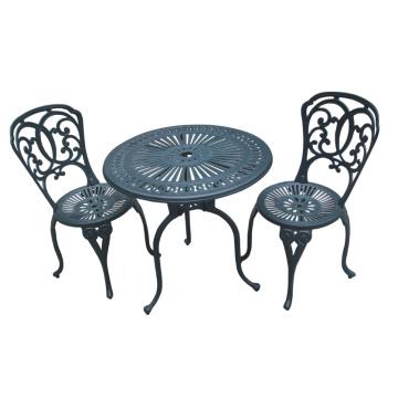 Bistro Set Cast Aluminium Patio Garden Outdoor Furniture