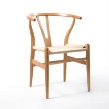 Cera blanca nórdica madera buena calidad silla de comedor