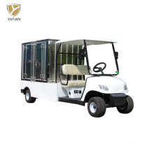 White Cool Golf Cart Utility Vehicle with Rack on Roof, 2 Passenger Capacity