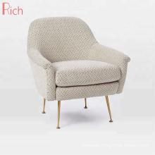 Italian Mid-Century Designs Single Sofa Fabric Linen Armchair For Living Room
