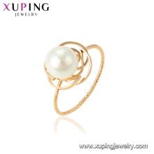 15462 xuping en gros dans guangzhou usine mode dernière perle anneau design pour les femmes cadeau de fête de mariage