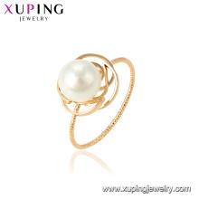 15462 xuping atacado em guangzhou fábrica de moda mais recente projeto do anel de pérolas para as mulheres presente da festa de casamento