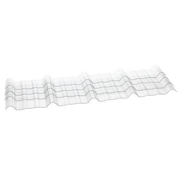 Folha Ondulada de Policarbonato com Bloco 100% UV