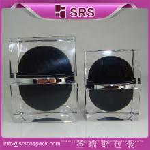 Novo Estilo Luxo Praça Shape Skincare Creme Jar E 30g 50g lindo lindo Cosmetic Container