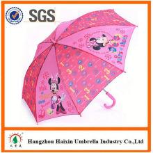 Professionelle Auto Open süß drucken Kinder Regenschirm mit Pfiff