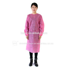 Disposable PP gowns /SMS printed Surgical gown/ isolation gown patient gown with elastic and knit cuff ISO standard
