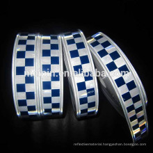 PVC Blue White Reflective Checker Tape for Safety