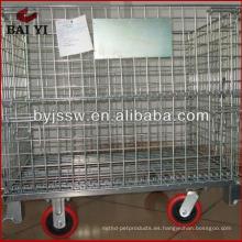 caja de almacenamiento de metal rodante con ruedas