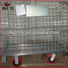 cage de rangement en métal roulante avec roues