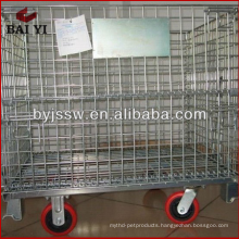rolling metal storage cage with wheels
