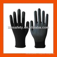 Gants flexibles en PU noir