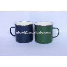 Carbon steel enamel color rull cup with coaing high quality